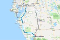 Tampa-Punta-Gorda-Busch-gardens-trajeto-terrenos-na-florida