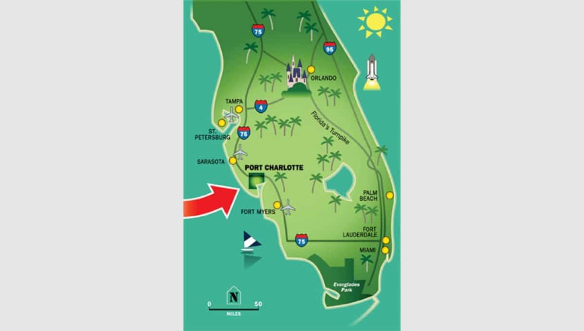 Map Of Port Charlotte Florida.4104 Hollis Ave Port Charlotte Mobile Home Florida Terrenos Na